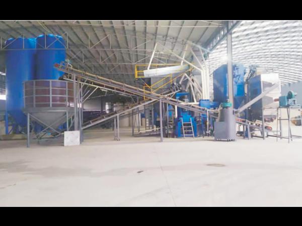 陕西汉中石英砂生产现场