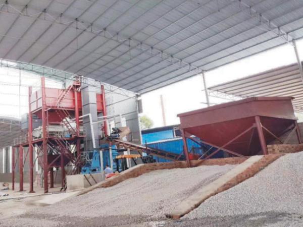 桂林灵山县砂浆生产现场