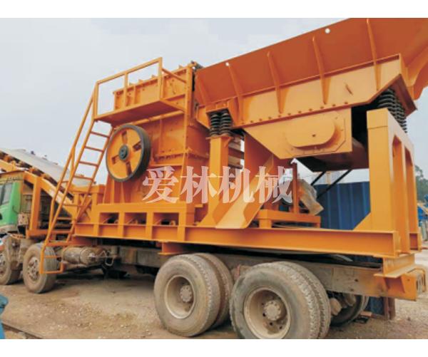 柴油动力履带和轮胎移动制砂生产线